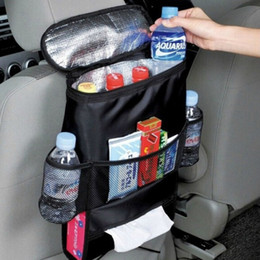 Wholesale Chair Organizer Pockets - Auto Care Car Seat Organizer Cooler Bag Multi Pocket Arrangement Bag Back Seat Chair Car Styling Seat Cover Organiser LLFA