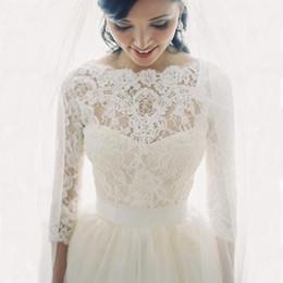 Wholesale Wedding Shawls For Bridesmaids - New Lace Bridal Shrug Wrap Cape Shawl Bolero Jacket Coat Perfect For Wedding Bride Bridesmaid 3 4 Long Bridal Accessories Wrap