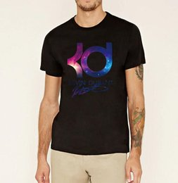 Wholesale Kevin Durant Wholesale - Wholesale- Plus size Kevin durant kpop mma t shirt men's hiphop Mma fashion brand clothing casual letter KD tshirt homme summer fitness
