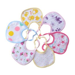 Wholesale Towels Sale Yellow Wholesale - 100pcs lot wholesale Baby cotton bibs hot sale new high quality blue & pink Pure cotton saliva towel for 0-2 years baby