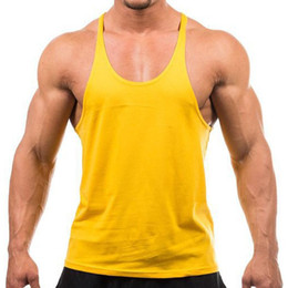 Wholesale Undershirt Men Modal - Wholesale- Man Vest Bodybuilding Clothing Men Tank Tops Golds Brand High Quality 100% Cotton Undershirt Solid Color Plain Singlets