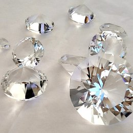 Wholesale Diamond Table Scatter Crystals - Giant Wedding and Home Table Scatter Diamond K9 Crystal beads Wedding Confetti Transparent Diamonds 10pcs 10 Different Sizes For U Pick