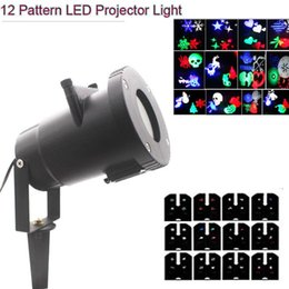 Wholesale Card Color Change - led wall decoration laser light LED RGB colour 12 pattern card change lamp Projector Showers led laser light for holiday