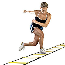 Wholesale 12 Ladder - Football Training Ladder Durable Nylon Straps 12 rung 18 Feet 6m Agility Ladder for Soccer Speed Training Fitness Bodybuilding