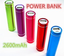 Wholesale External Power Charger S3 - best quality USB Power Bank External portable 2600mAh Battery Charger For S3 S4 5C 5S Free shipping 04