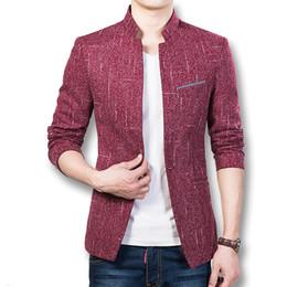 Wholesale Jacket Anzug - Wholesale- 2016 Men Blazers and Jackets Coats Dress Suits Men's Casual Fashion Slim Fit Long Sleeved Large Size Blazers Herren Anzug Male