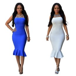 Wholesale Dresses Women S Bow Strapless - Best-selling Europe and the United States after sexy club zipper strapless dress