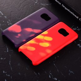 Wholesale color change heat - Thermal Sensor Case For Galaxy S9 S8 S7 Note 8 Thermal Heat Induction Change Color Phone Back Cover for iPhone X 8 7 6 Plus