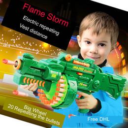 Wholesale Electric Soft Gun - Children's Electric Soft Bullet Gun Machine Gun Sniper Rifle Boy Toys Can Launch Submachine Gun Shot Elite Retaliator Blaster Free DHL