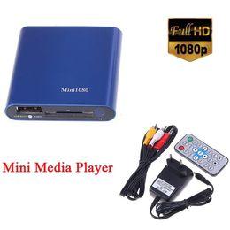 Wholesale Rm Rmvb Hdd Media Player - Wholesale- 1080P HDMI SD MMC USB HD Multimedia player Mini Media Player support MKV RM RMVB with IR Remote