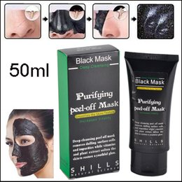Wholesale Skin Care Face Cleansing - 300pcs SHILLS Deep Cleansing Black Mask Pore Cleaner 50ml Purifying Peel-off Mask Blackhead Facial Mask Matte DIY beauty skin care via DHL