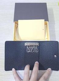Wholesale mini briefcase men - Leather 6 KEY HOLDER High-end quality men keys wallet An elegant accessory for pocket or briefcase famous designer women purse LA62631