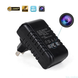 Wholesale Mini Camcorder Charger - Mini WiFi Spy Camera USB Charger AC Adapter HD 1080P Motion Detection Wireless Hidden Video Recorder DVR Nanny Camcorder EU US Plug