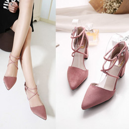 Wholesale Free Matting - Summer Dress shoes for women wholesale price matting micro suded leather pointed toe party shoes Free Shipping YonDream-357