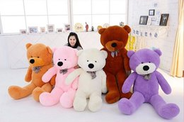 Wholesale Giant Cute Teddy Bear - 60 80 100 120cm Giant Big Cute Plush Stuffed Teddy Bear Soft 100% Cotton Toy