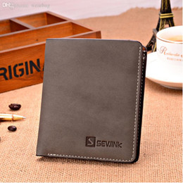 Wholesale Mens Rfid Wallets - Hot Sale-Free shipping 2015 new stylish Mens Genuine Leather Wallet Pockets RFID Card Clutch Cente Bifold Purse
