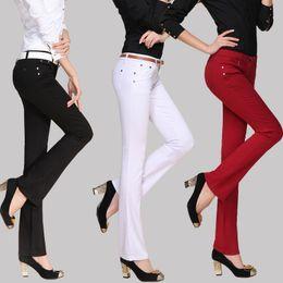 Wholesale Korean Women Sweatpants - Sexy Leggings Korean Fashion Women's Pants Candy Colors Trousers 9 Colors 7 Sizes Slim Fit Casual Dress Sweatpants