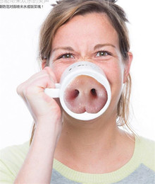 Wholesale Novelty Pigs - I'm Pig Creative Funny Pig Nose Ceramic Water Cup Novelty Coffee Mug Office Tea Cup Drinkware Office Hot Water Bottle