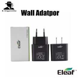 Wholesale Packing Products - 100% Original Eleaf Wall Adatpor Replacement for Charging Eleaf Products EU US Types Simple Individually Box Packing Free Shipping