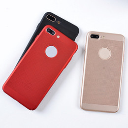 Wholesale Net Mesh Case - Phone Case Full Cover Matte Shell Mesh Net Grid Hollow Out Dot Back Cover for iPhone7 7plus 6s 6G heat dissipation fine permeability