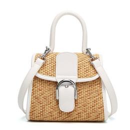 Wholesale Braided Handbag - 2017 rattan grass braided messenger beach bag fashionable casual single shoulder handbag bag straw beach bag