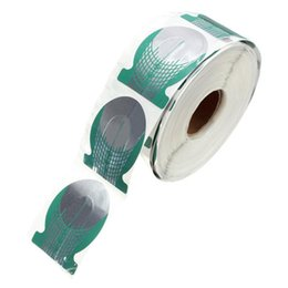 Wholesale Pro Nails Forms - Wholesale- 500pcs roll Pro Green Horseshoe Shape Nail Art Tip Nails Extension Form Roll Acrylic Curve Gel Guide Stickers