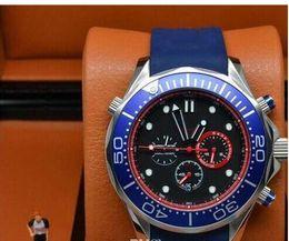 Montre de marque de luxe quartz chronographe emirates équipe Mens Watch Professional Planet Ocean Montre bracelet en caoutchouc ceinture fermoir original Montres Hommes ? partir de fabricateur