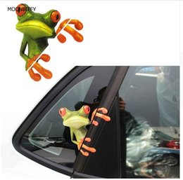 Wholesale Car Body Graphics - Essential 3D Peep Frogs Funny Car Stickers Truck Window Decal Graphics Sticker Decorative High temperature
