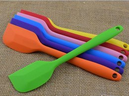 Wholesale Wedding Cutter - 2017 new Wedding Candy Color Silicone Cake Spatula Batter Scraper For Snowflake Cake Tools silicone spatula Kitchen baking tool wholesale