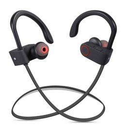 Wholesale Headphone Best - Best Wireless Sport Headphones Headset Mic Earphones Bluetooth Headphone IPX7 Sweatproof Bass Stereo In Ear Headset