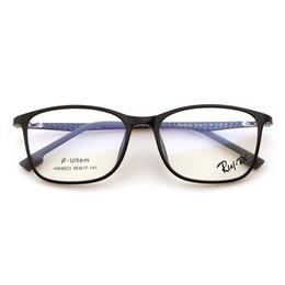 Wholesale Light Optical Fiber - RLEI DI Ultra Light Carbon Plastic Steel Frame with Clear Glasses Retro Glasses Carbon Fiber Women Men Myopia Optical Transparent Glasses