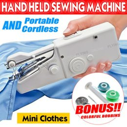Wholesale Hand Clothes - Portable Handheld Cordless Mini Sewing Machine hand held Stitch Home Clothes