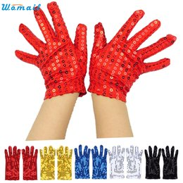 Wholesale Delicate Fingerless Gloves - Wholesale- WOMAIL delicate tactical gloves gloves women autumn Fashion Sequin Show Jazz Dance Gloves nor160823