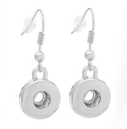 2019 scatta gli orecchini NOOSA Ginger Snap Earring Button 18mm gioielli di moda intercambiabili per le donne argento ciondola orecchino di fascino regalo di Natale scatta gli orecchini economici