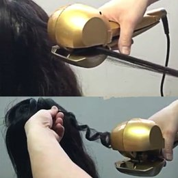 Wholesale Digital Steamer - Professional Hair Curler Roller Iron Wave Styler Tool Curl Machine Steamer Magic Ceramic Curling Iron Automatic Best Hair Curle