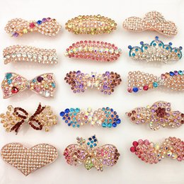 Wholesale Black Heart Hair Clips - 40% Off Hair Clip Barrettes Crystal Spring Clip Hair Jewelry Pearl Heart Bow Flower Leaf Wholesale free DHL