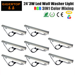 Wholesale Led Bar Rgb Dmx - TIPTOP Stage Light 8XLOT Waterproof High Power DMX Led Wall Washer Light 24pcs 3Watt City Color DMX 3CH 7CH 100cm Long 100V-240V Led Bar