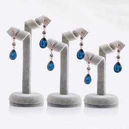 Wholesale Stud Display Stand - 3PCS Set Black Grey Color Jewelry Ear Stud Dangle Earrings Holder Display Show Stand Rack Tree
