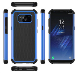 Wholesale Cheap Plastic Cell Phones - Classic style Hybrid 2 in 1 Robot Rugged Armor Defender Cell phone case cover for Samsung S7 edge Cheap sell Protective shell