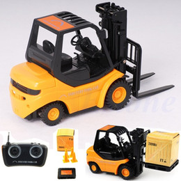 Wholesale Toy Remote Cranes - Wholesale-RC Forklift Radio Remote Control Controlled Truck Car Lifting Arm RC Crane Toy