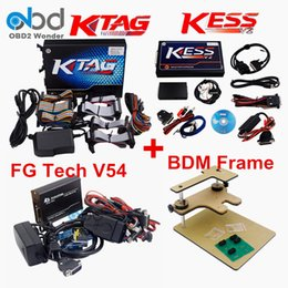 Wholesale Galletto Adapters - Wholesale- DHL Ship New KESS V2 V2.32+KTAG V2.13 BDM FRAME Programmer And FGTECH Galletto 4 V54 Full Adapters ECU Chip Tuning No Tokens