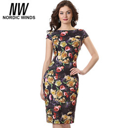 Wholesale Night Club Products - Wholesale- 2017 Summer Women Floral Dresses with Slash-neck Short Sleeve Rose Flower Print One Piece cute Bohemian Vestidos Hot Product
