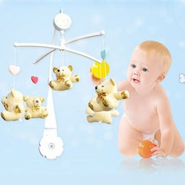 Wholesale Baby Crib Mobile Arm - 5Pcs Baby Crib Holder ABS Plastic DIY Plush Hanging Baby Crib Mobile Bed Bell Toy Holder 360 Degree Rotate Arm Bracket