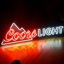 Wholesale Coors Neon Beer Light - Fashion Handcraft Coors Light Mountain Real Glass Tubes Beer Bar Pub Display neon sign 19x15!!!Best Offer!