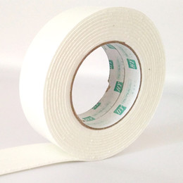 Wholesale Foam Glue - Wholesale- 2016 2.9m Double Sided Foam Glue Tape White length Strong Powerful Thick Double Faced Adhesive Tape School Office Supplies