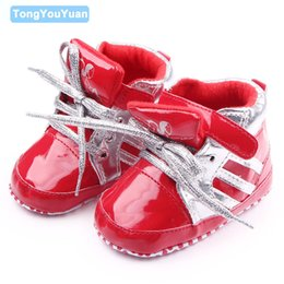 Wholesale Cool Shoes For Girls - Wholesale- New Fashion Baby Leather Shoes Soft Sole Baby Sports Shoes Cool Toddler Baby Shoes For Boys Girls 0-15 Months