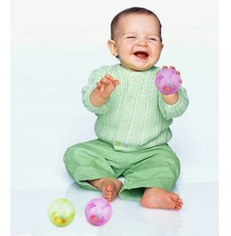 Wholesale Infant Music Toys - Wholesale- Plastic Baby Rattles Ball Rustle Music Bouncing Ball Sensory Perception Educational Funny Toy For Infant Child Kids 1069