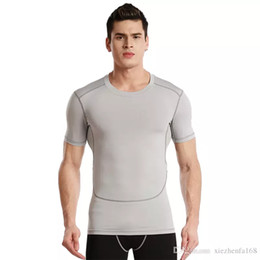 Wholesale Running Clothing Men - Spring bursts of short-sleeved training fast-drying body running clothes men's fitness shaping shirt