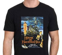 Wholesale Movies Office - Hot Selling 100% Cotton O-Neck House On Haunted Hill Vincent Price Classic Movie Short Sleeve Office Tee For Men