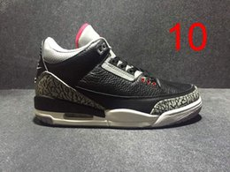 Wholesale Retro White Cement - hot sale 3 RETRO III BLACK VARSITY RED CEMENT GREY Men Basketball Shoes 3s Sports Sneakers mens shoe With Shoes Box